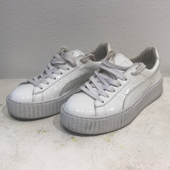 quality design 0bc5b d835a Fenty by Rihanna Patent Puma white sneakers